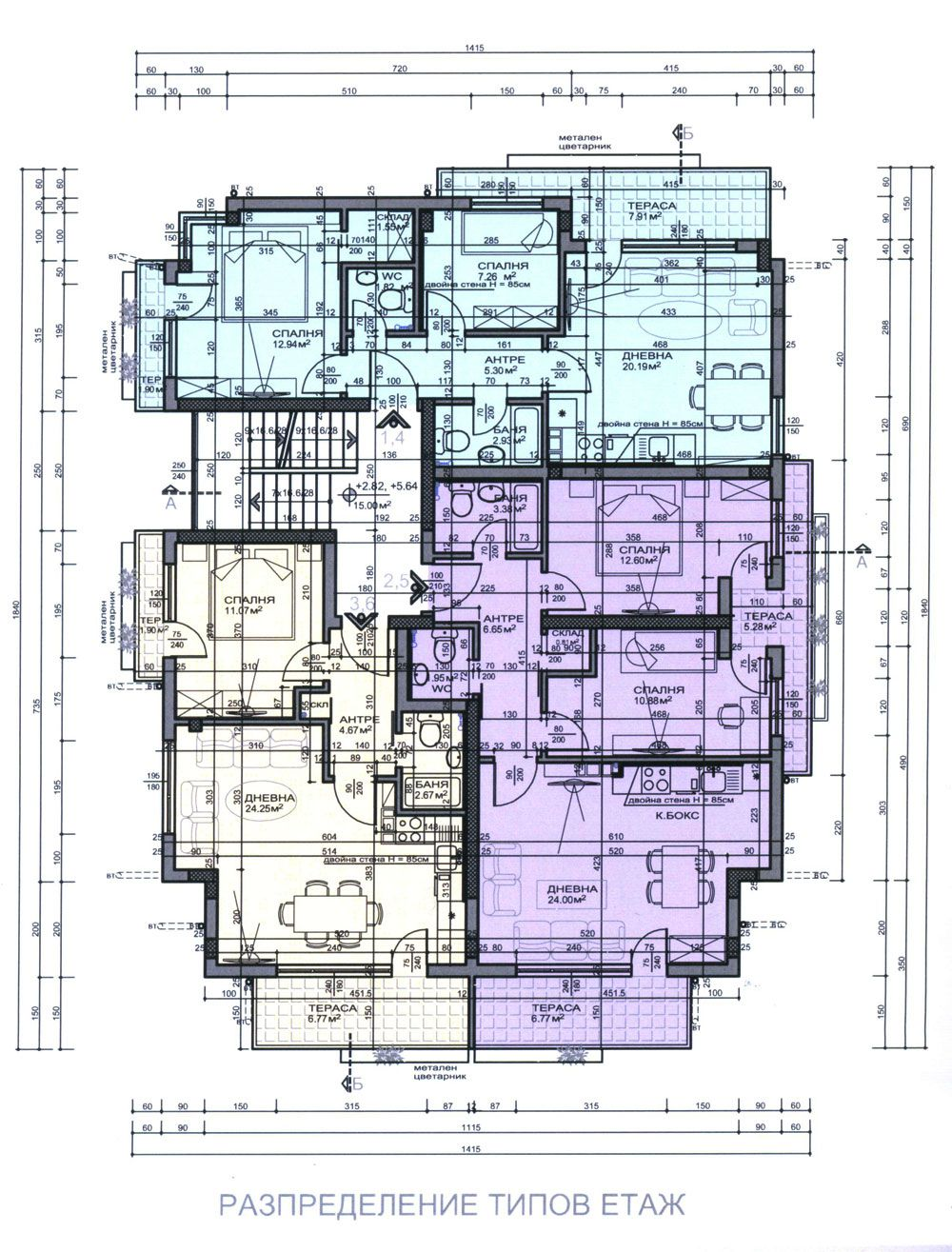 Residential building 1220 sofia residential district for Residential building plans dwg